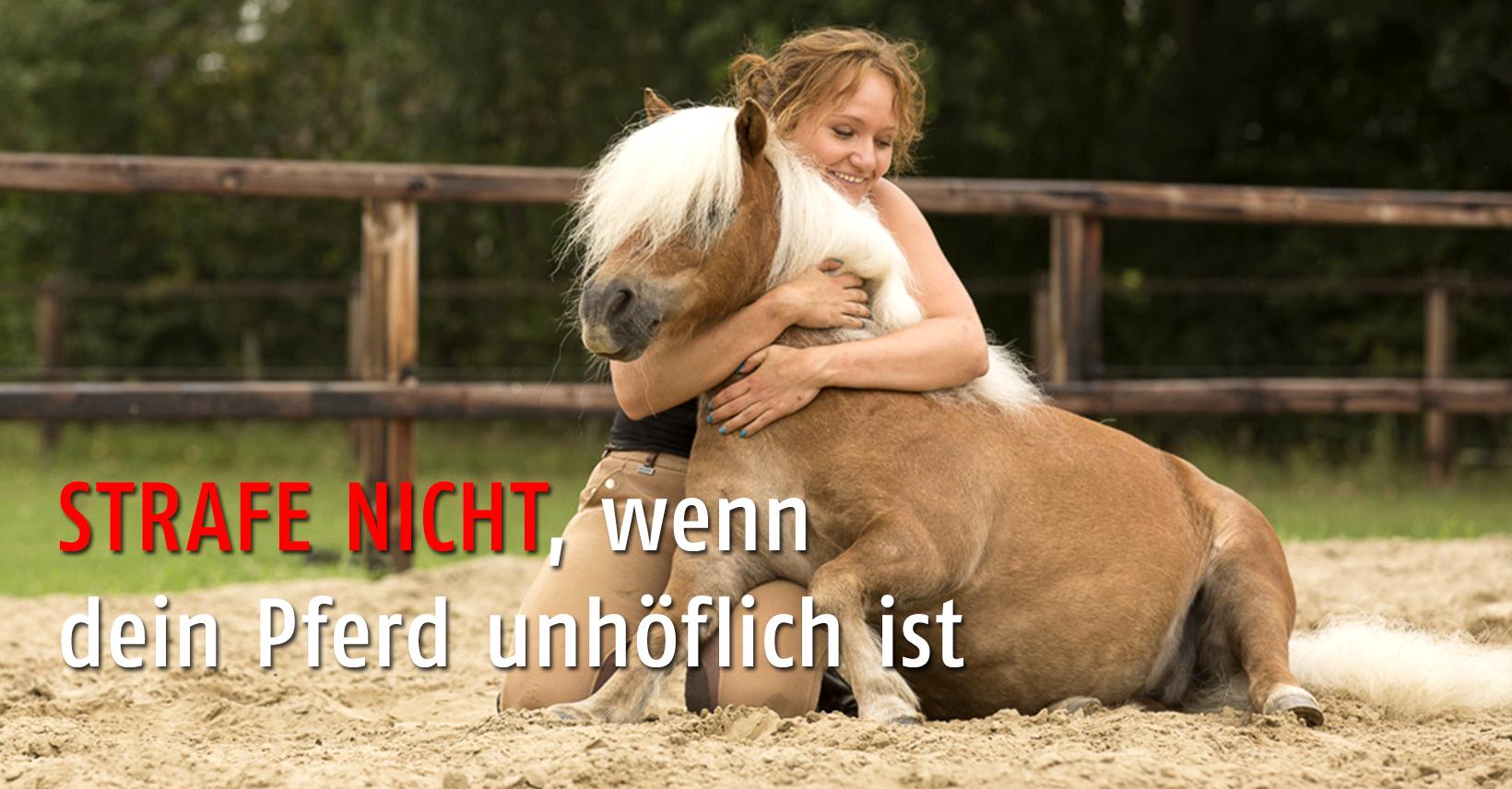 STRAFE NICHT, wenn dein Pferd unhöflich ist